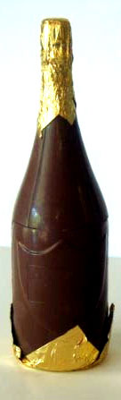 Large Chocolate Champagne Bottle