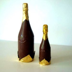 Small & Large Chocolate Champagne Bottles