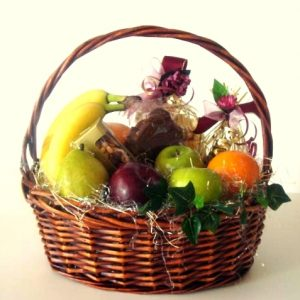 Mixed with seasonal fruits alongside chocolates