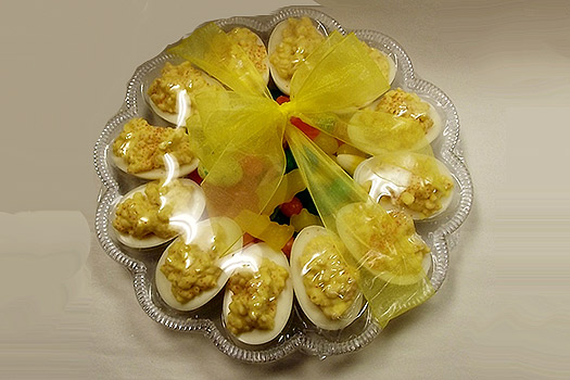 Plate of Deviled Eggs (Chocolate)